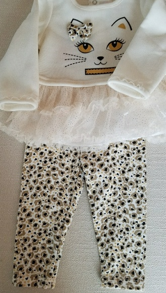 NWT BABY GIRL  2pc FLORAL//LACE BETSEY  JOHNSON OUTFIT SIZE 6-9m